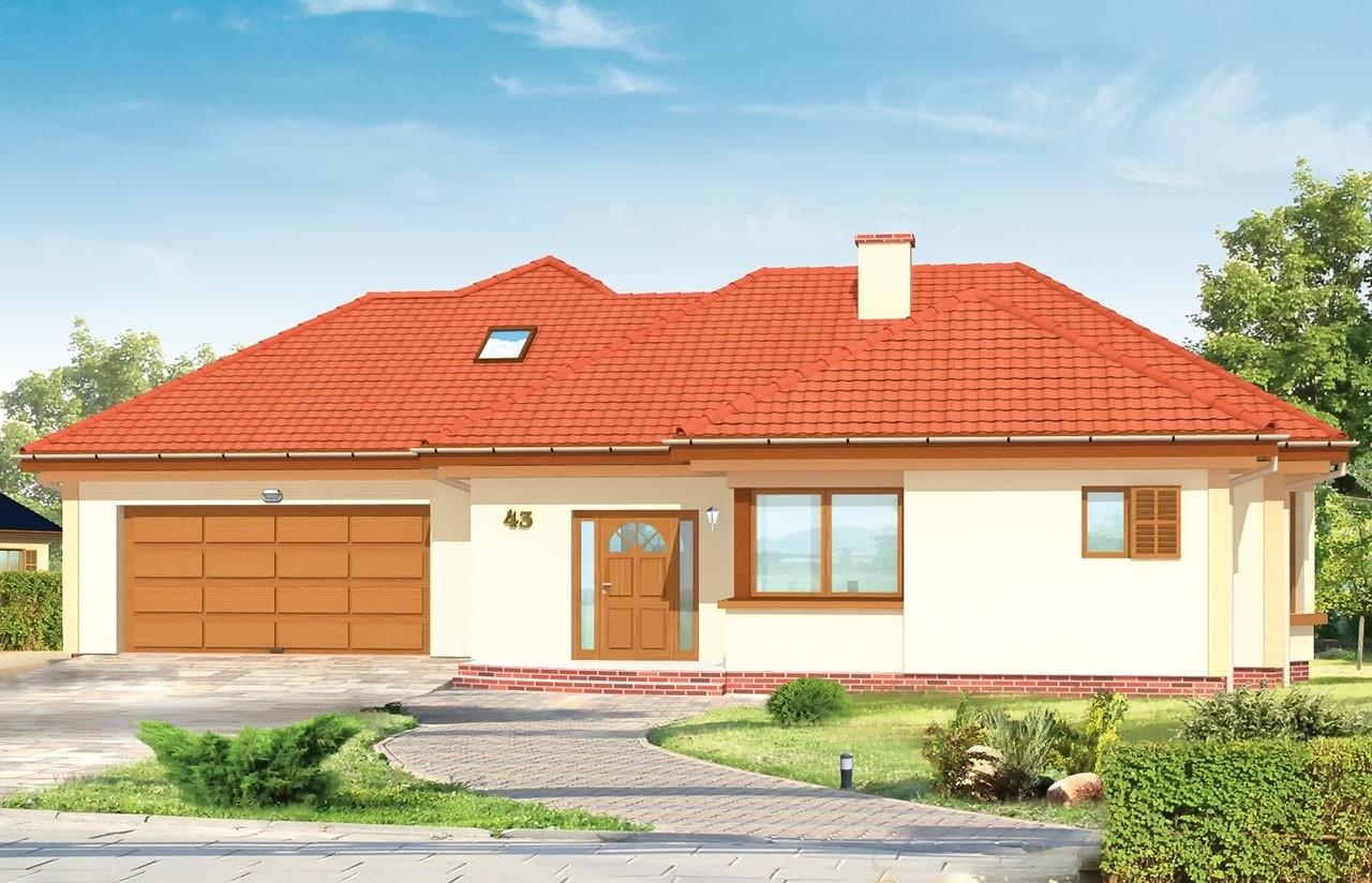 Projekt domu Komfortowy 2 - wizualizacja frontowa