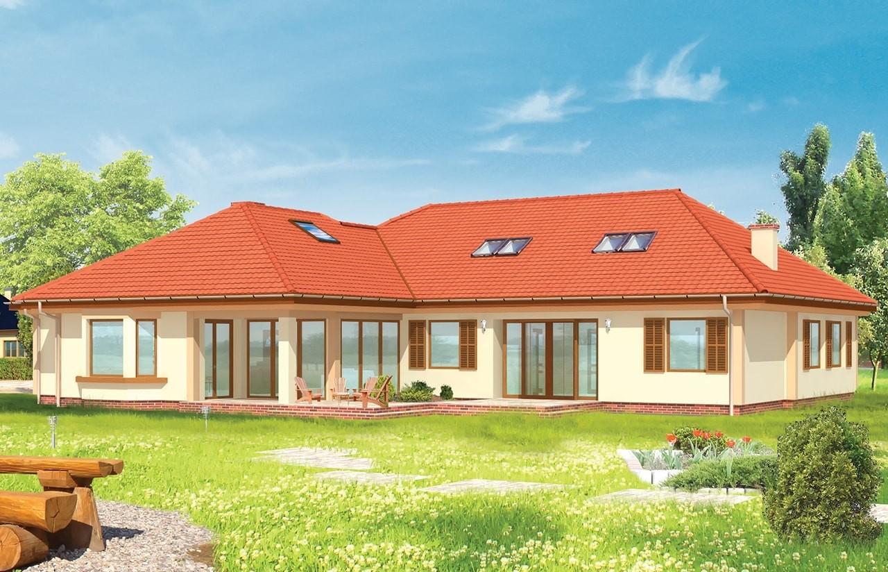 Projekt domu Komfortowy 2 - wizualizacja tylna