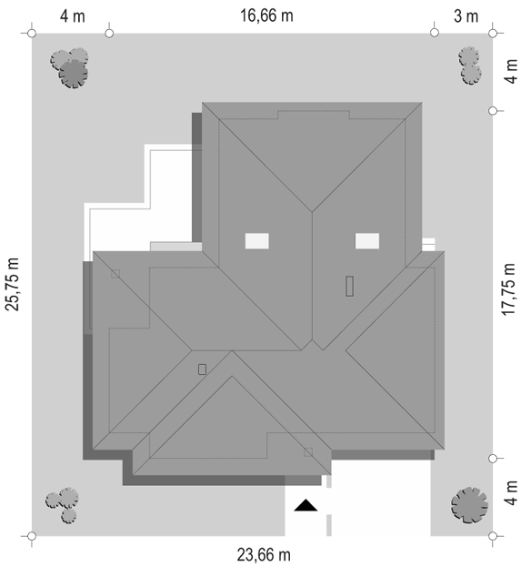 Komfortowy 3 - sytuacja odbicie lustrzane