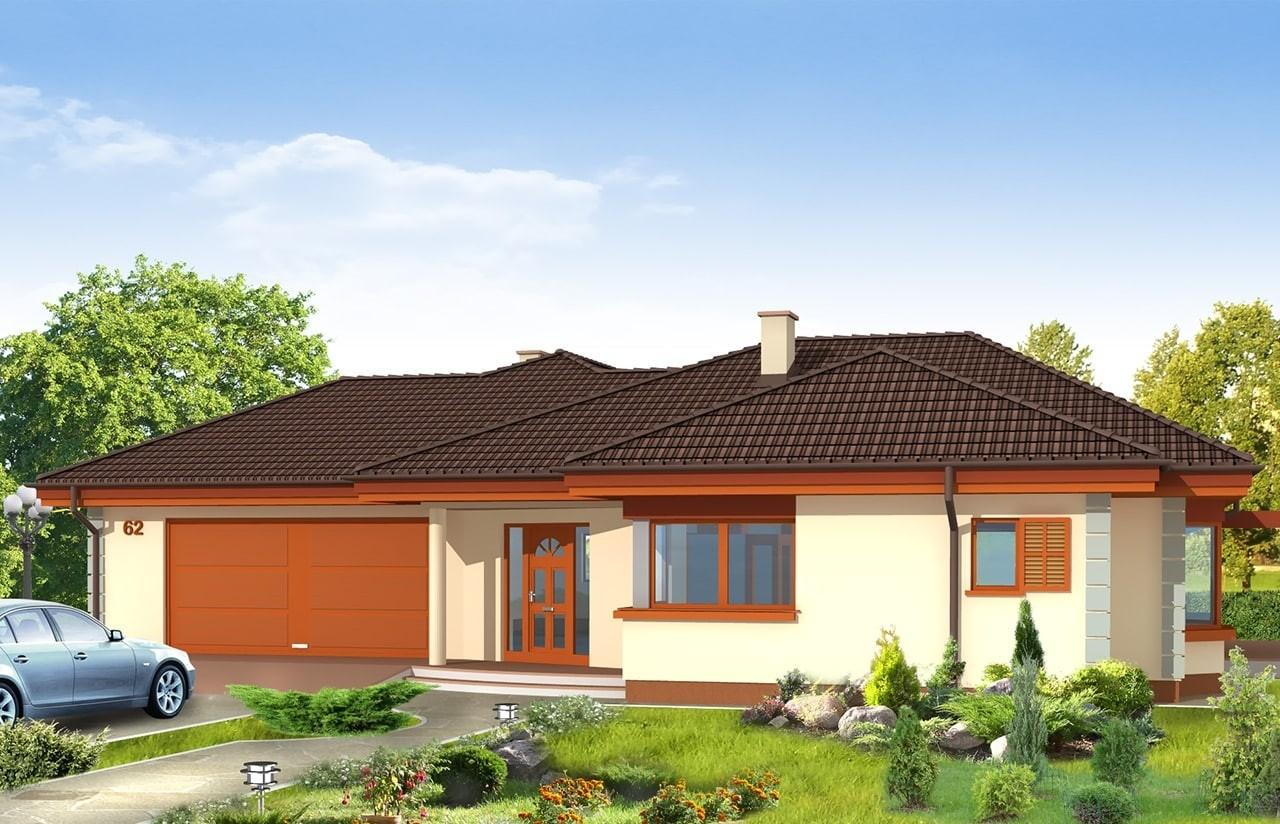 Projekt domu Komfortowy - wizualizacja frontowa