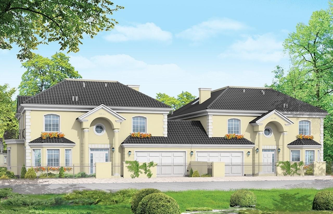 Projekt domu Komorów - wizualizacja frontowa