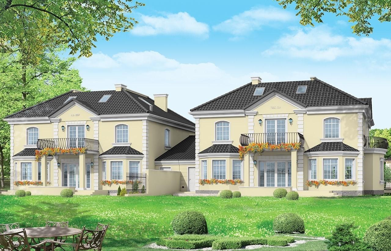 Projekt domu Komorów - wizualizacja tylna