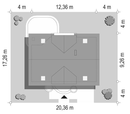 Koniczynka - sytuacja odbicie lustrzane