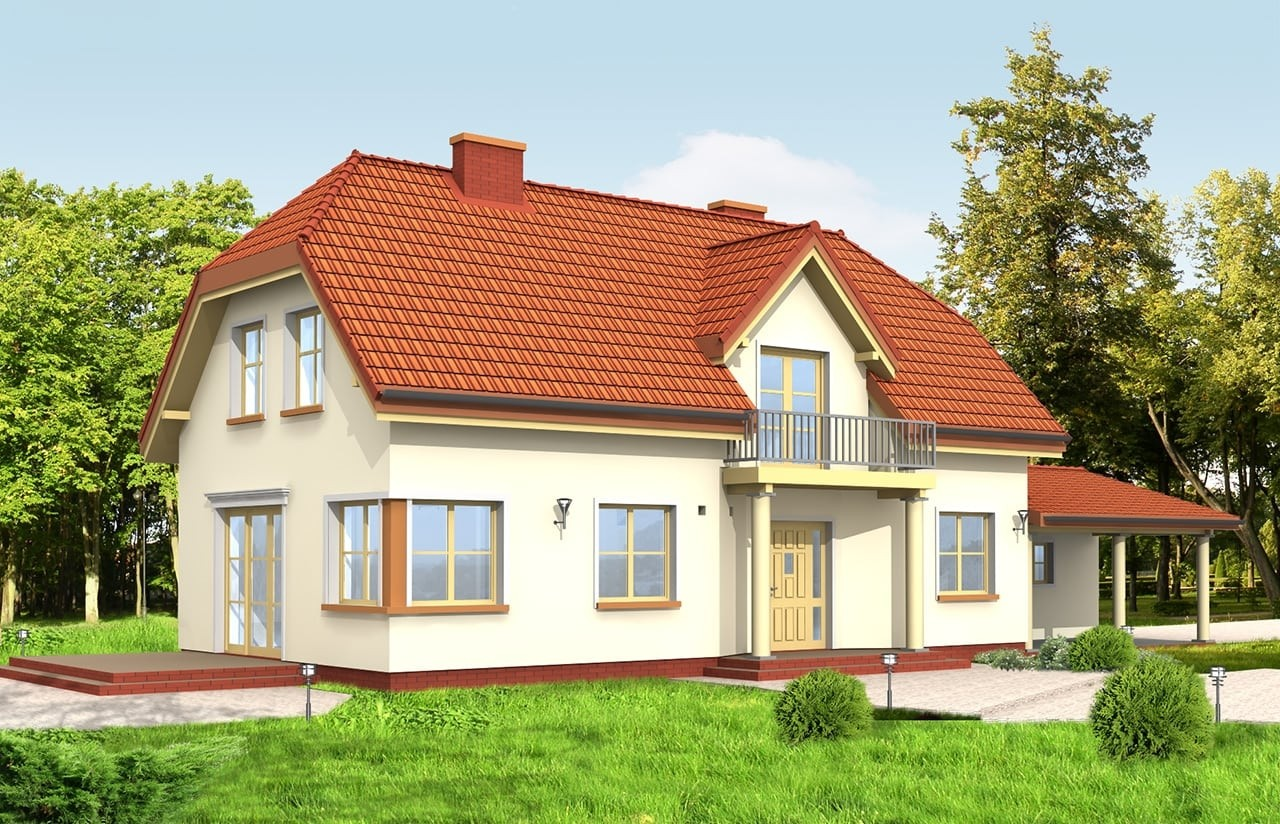 Projekt domu Krzysztof - wizualizacja tylna