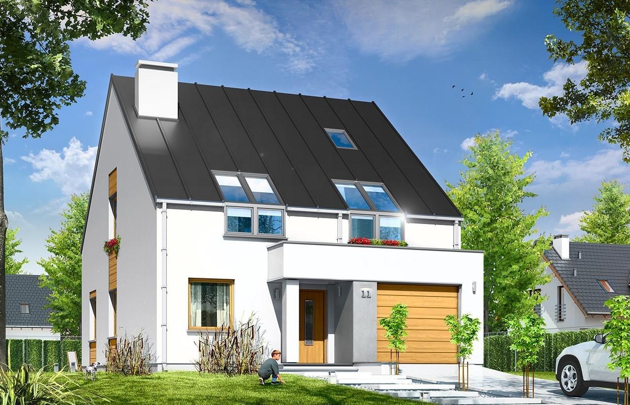 Projekt domu Leo - wizualizacja frontowa