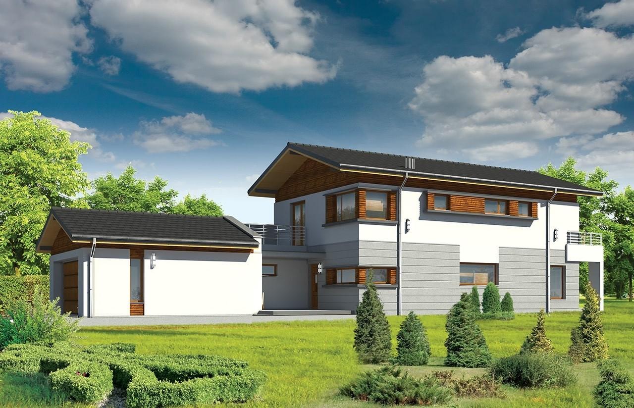 Projekt domu Lugano - wizualizacja frontowa