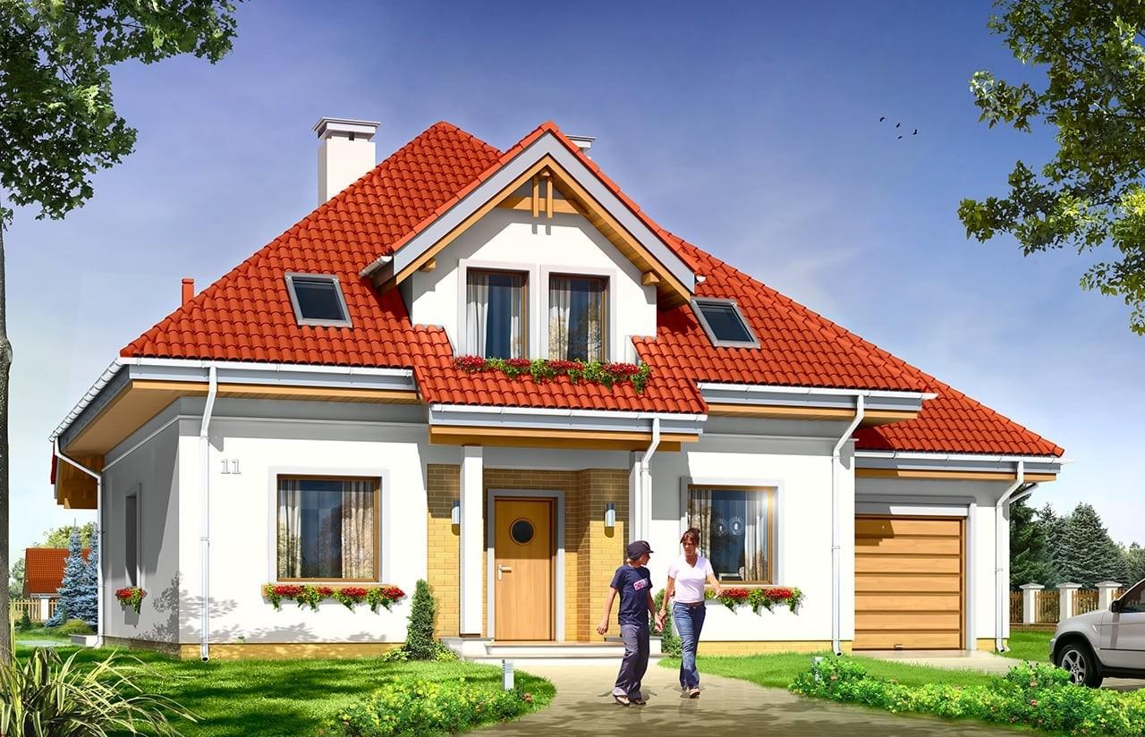 Projekt domu Luka - wizualizacja frontowa