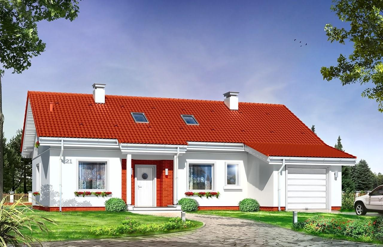 Projekt domu Luna - wizualizacja frontowa