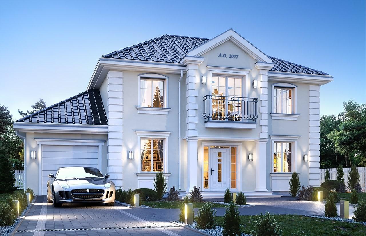 Projekt domu Magnat 3 - wizualizacja frontowa