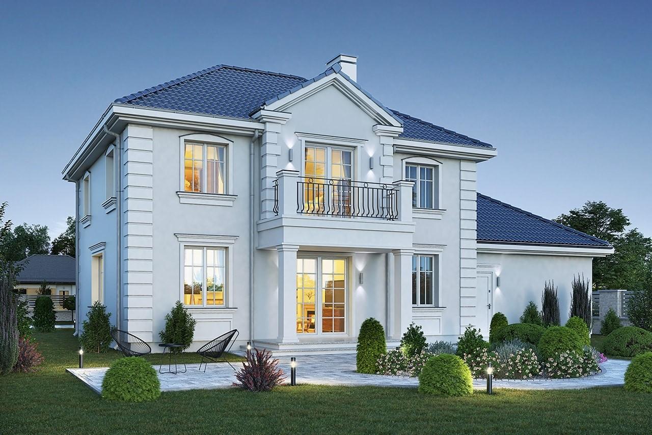 Projekt domu Magnat 4 - wizualizacja tylna