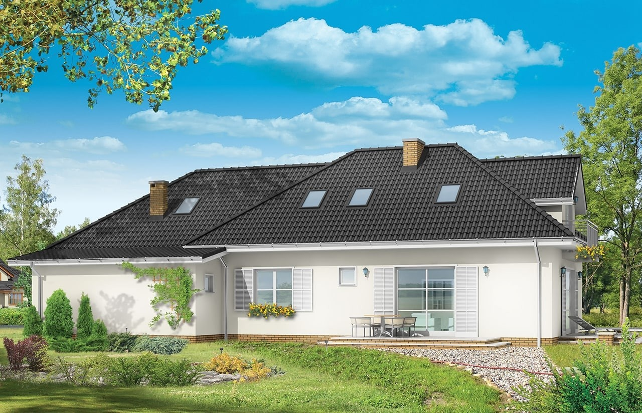 Projekt domu Magnolia - wizualizacja tylna