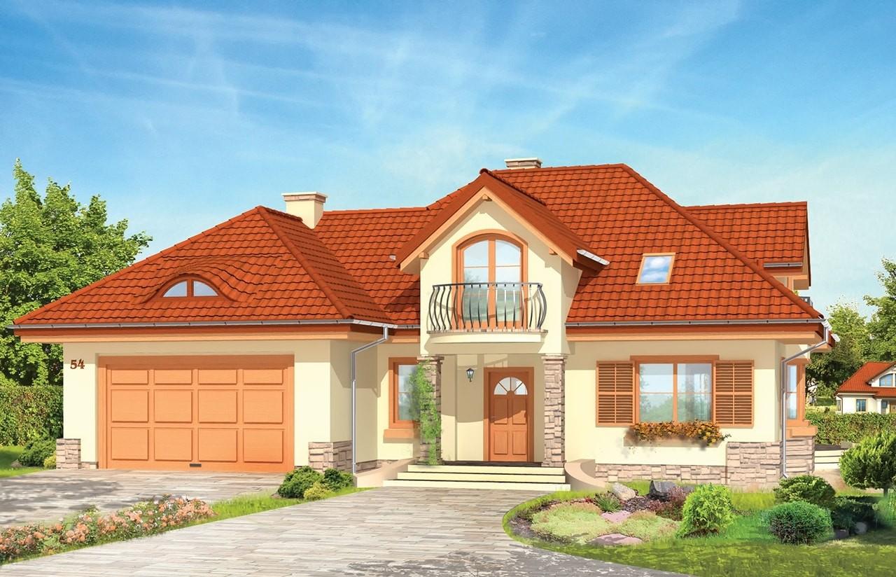 Projekt domu Maja 2 - wizualizacja frontowa