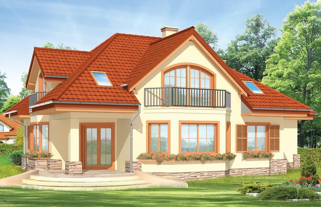 Projekt domu Maja 2 - wizualizacja tylna