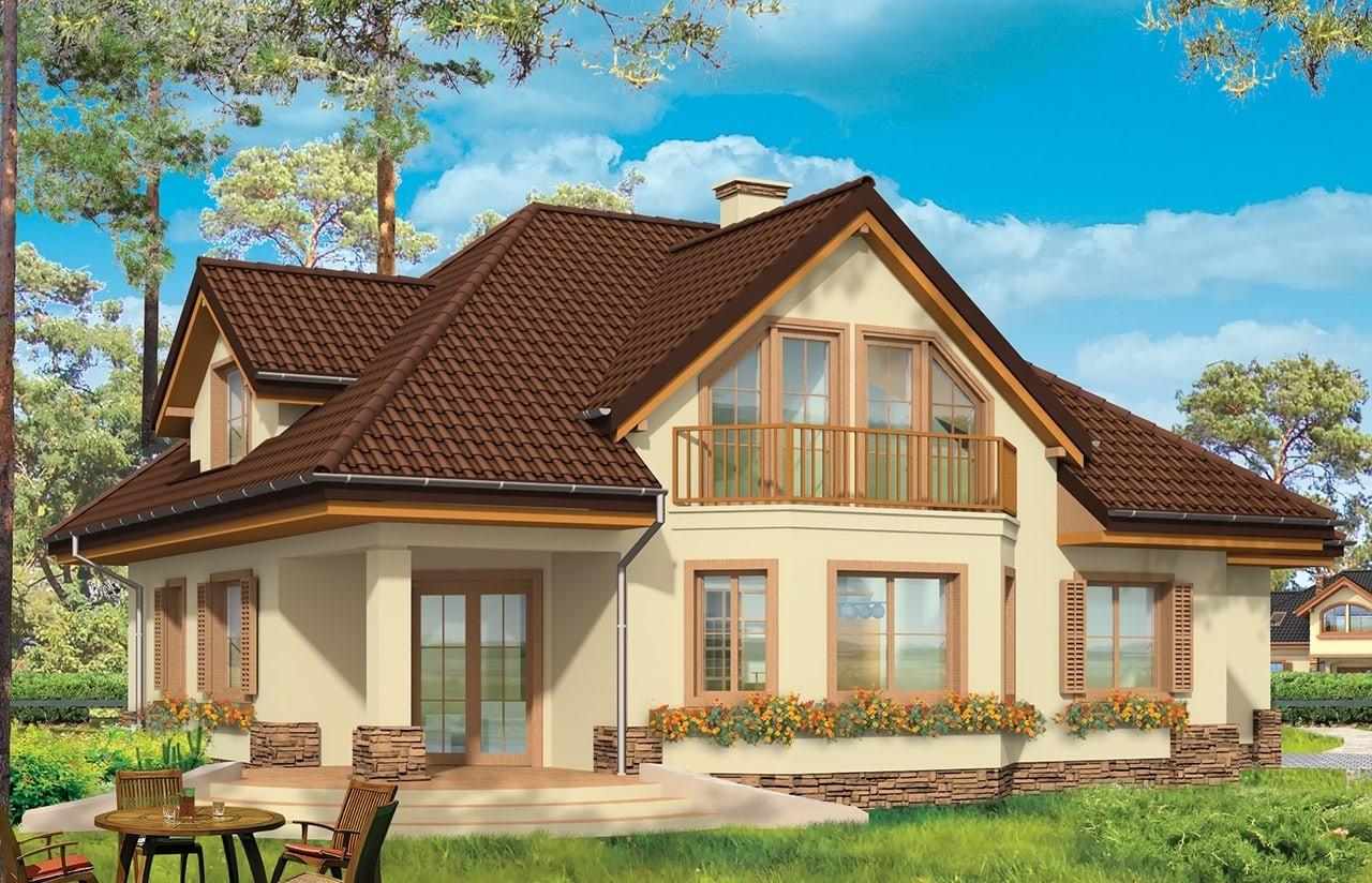 Projekt domu Maja 3 - wizualizacja tylna