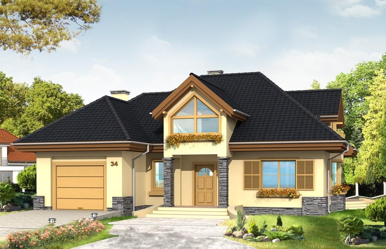 Projekt domu Maja - wizualizacja frontowa