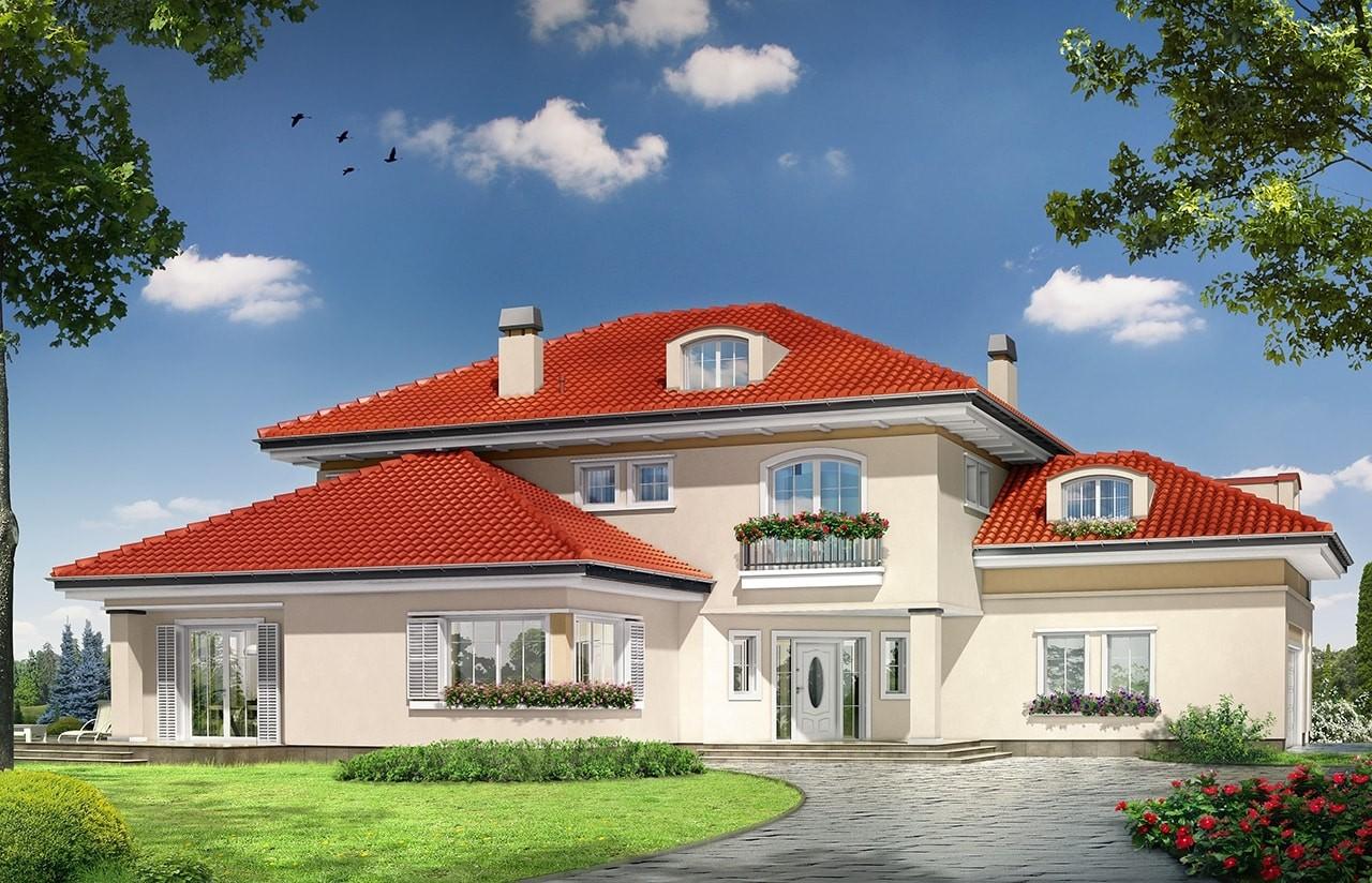 Projekt domu Malibu - wizualizacja frontowa