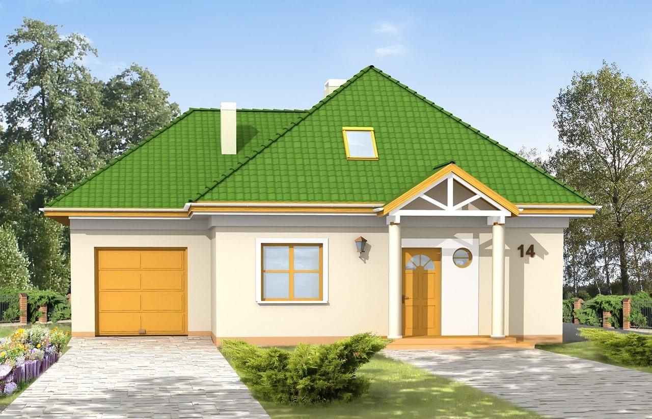 Projekt domu Mazurek 2 - wizualizacja frontowa