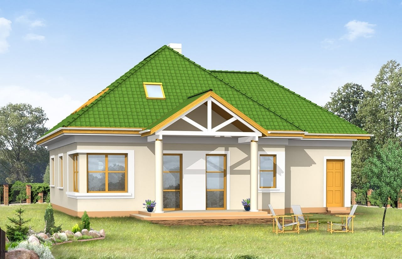 Projekt domu Mazurek 2 - wizualizacja tylna