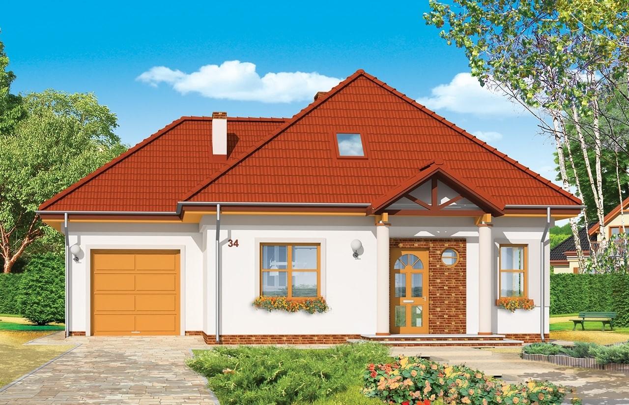 Projekt domu Mazurek 3 - wizualizacja frontowa