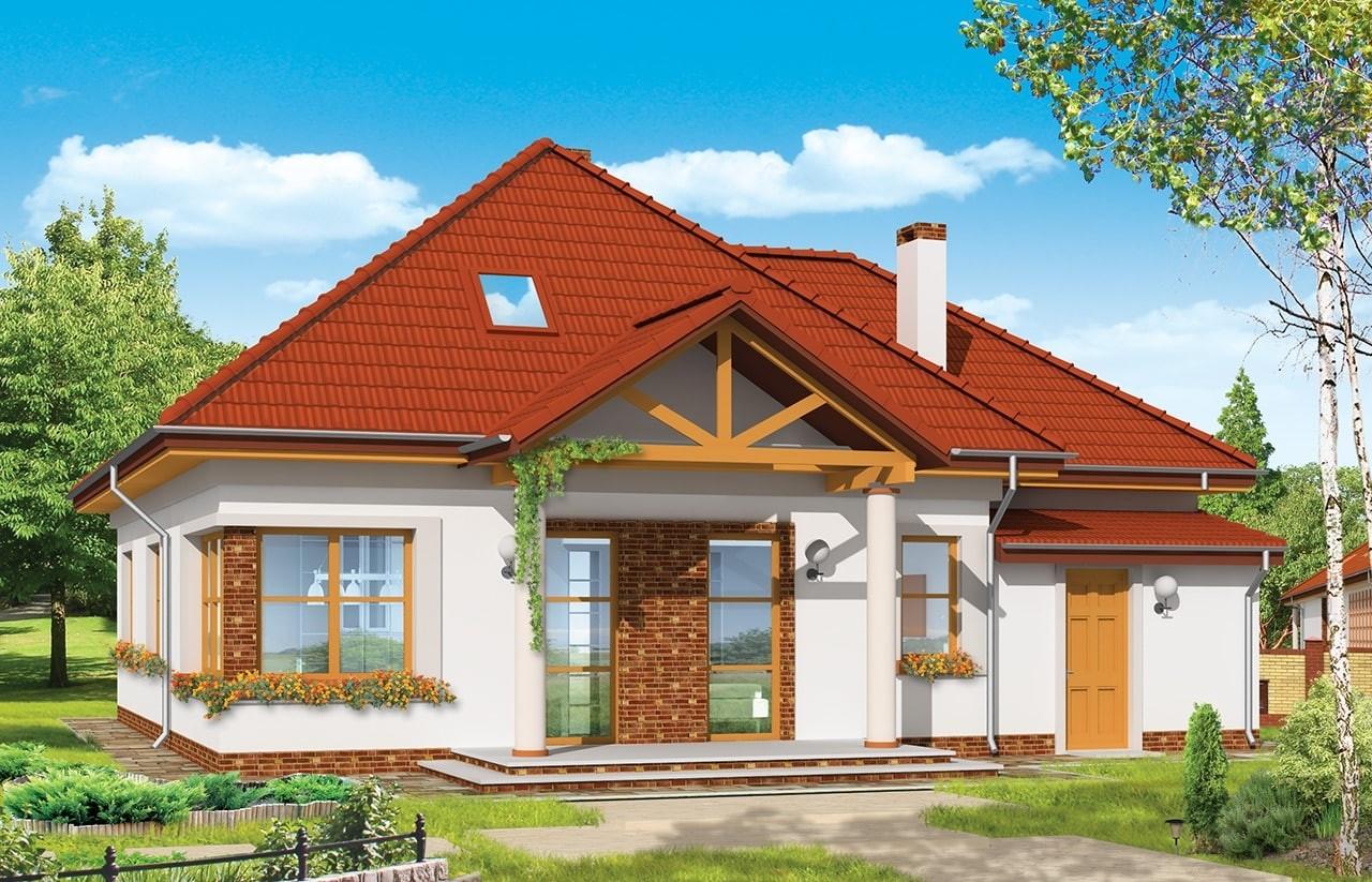 Projekt domu Mazurek 3 - wizualizacja tylna