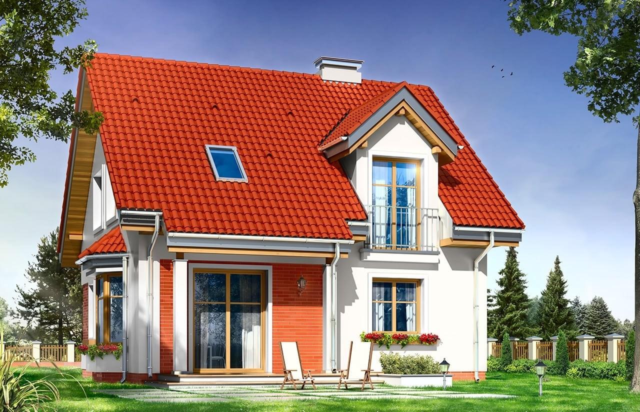 Projekt domu Michałek - wizualizacja tylna