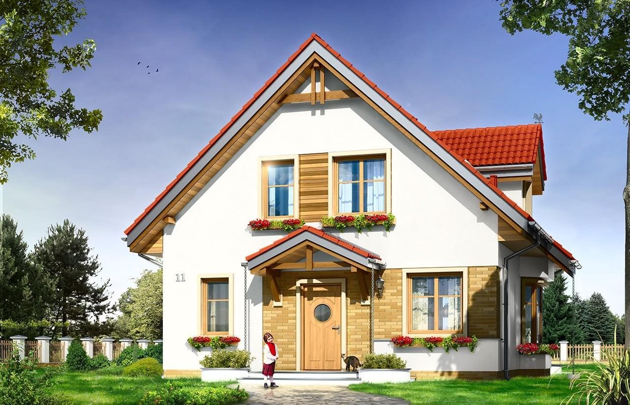 Projekt domu Michalina - wizualizacja frontowa