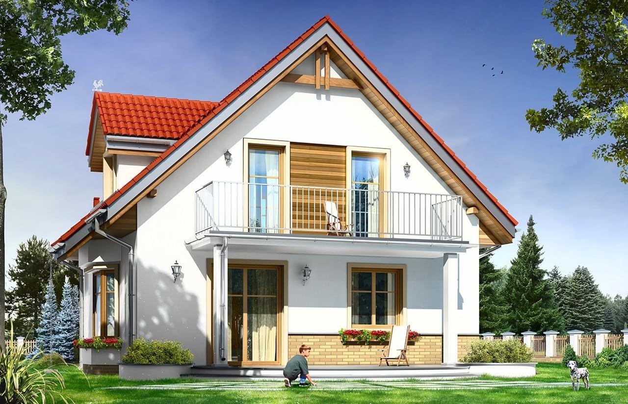 Projekt domu Michalina - wizualizacja tylna