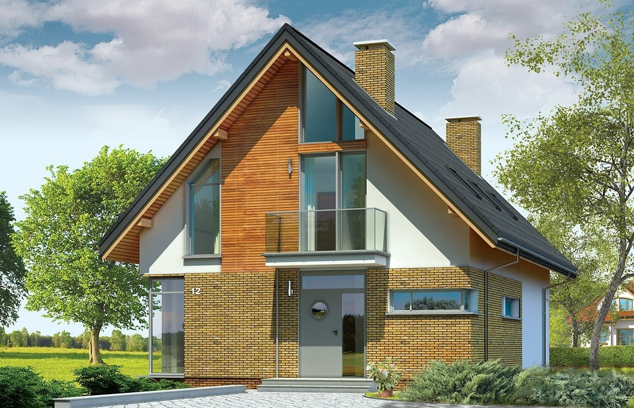 Projekt domu Miejski - wizualizacja frontowa
