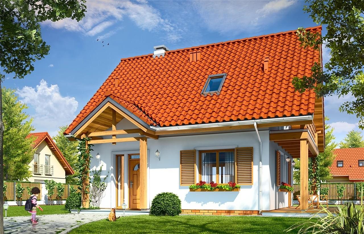 Projekt domu Milutki - wizualizacja frontowa