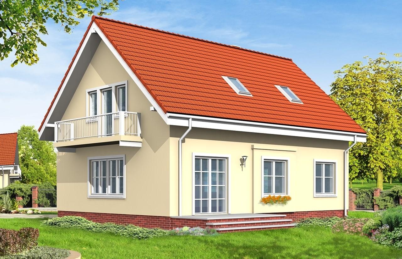 Projekt domu Miodowe Lata - wizualizacja tylna