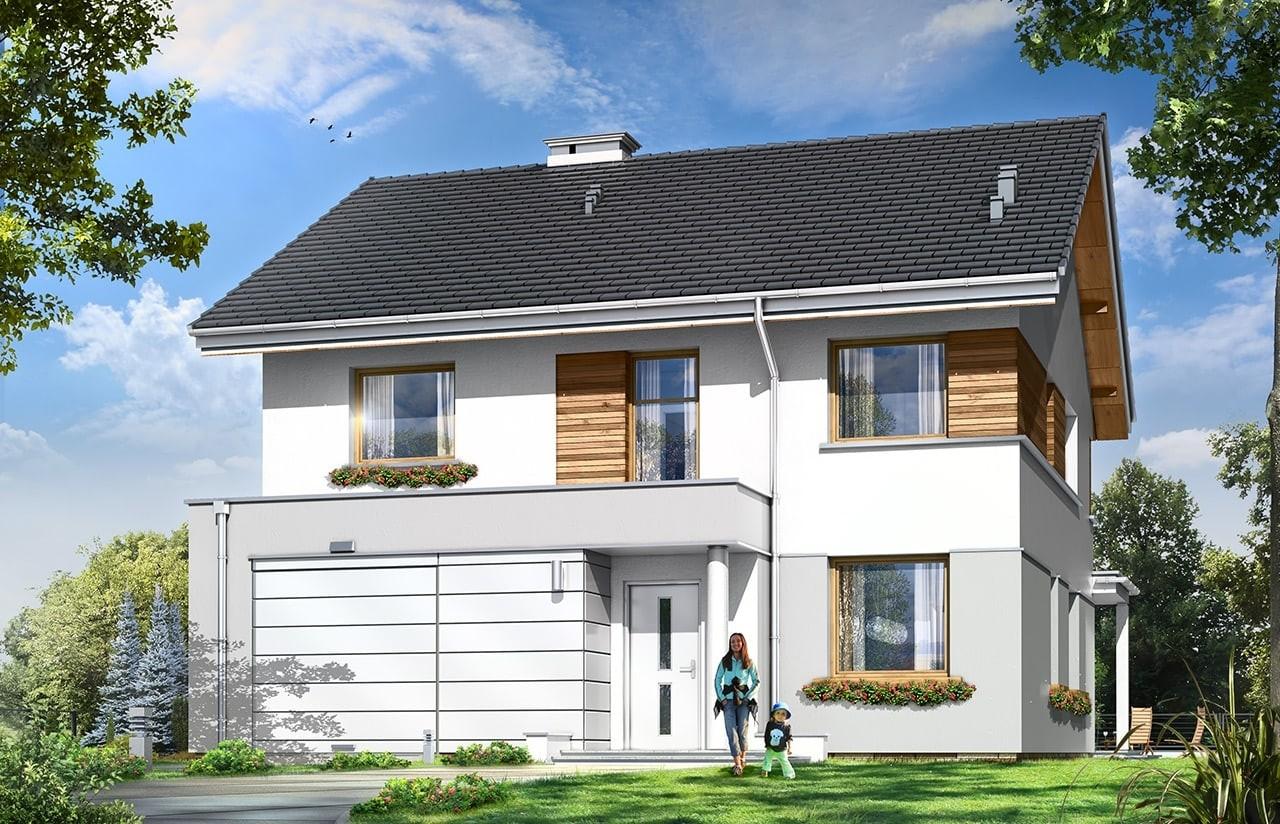 Projekt domu Miranda - wizualizacja frontowa