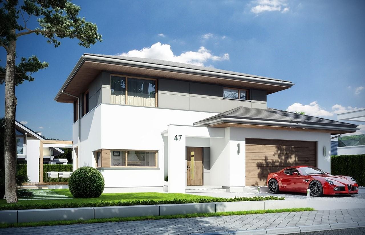 Projekt domu Modena - wizualizacja frontowa