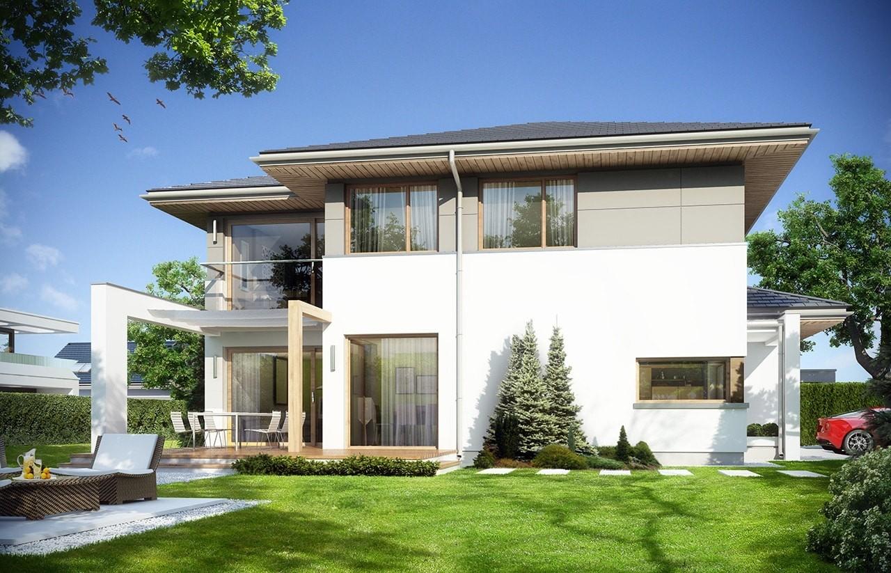 Projekt domu Modena - wizualizacja tylna