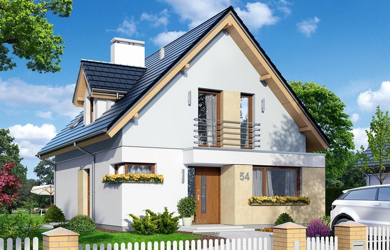 Projekt domu Na swoim 2 - wizualizacja frontowa