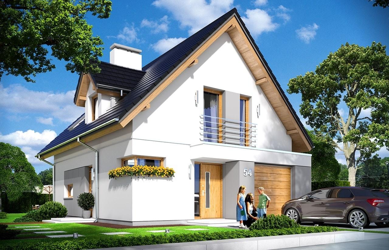 Projekt domu Na swoim - wizualizacja frontowa