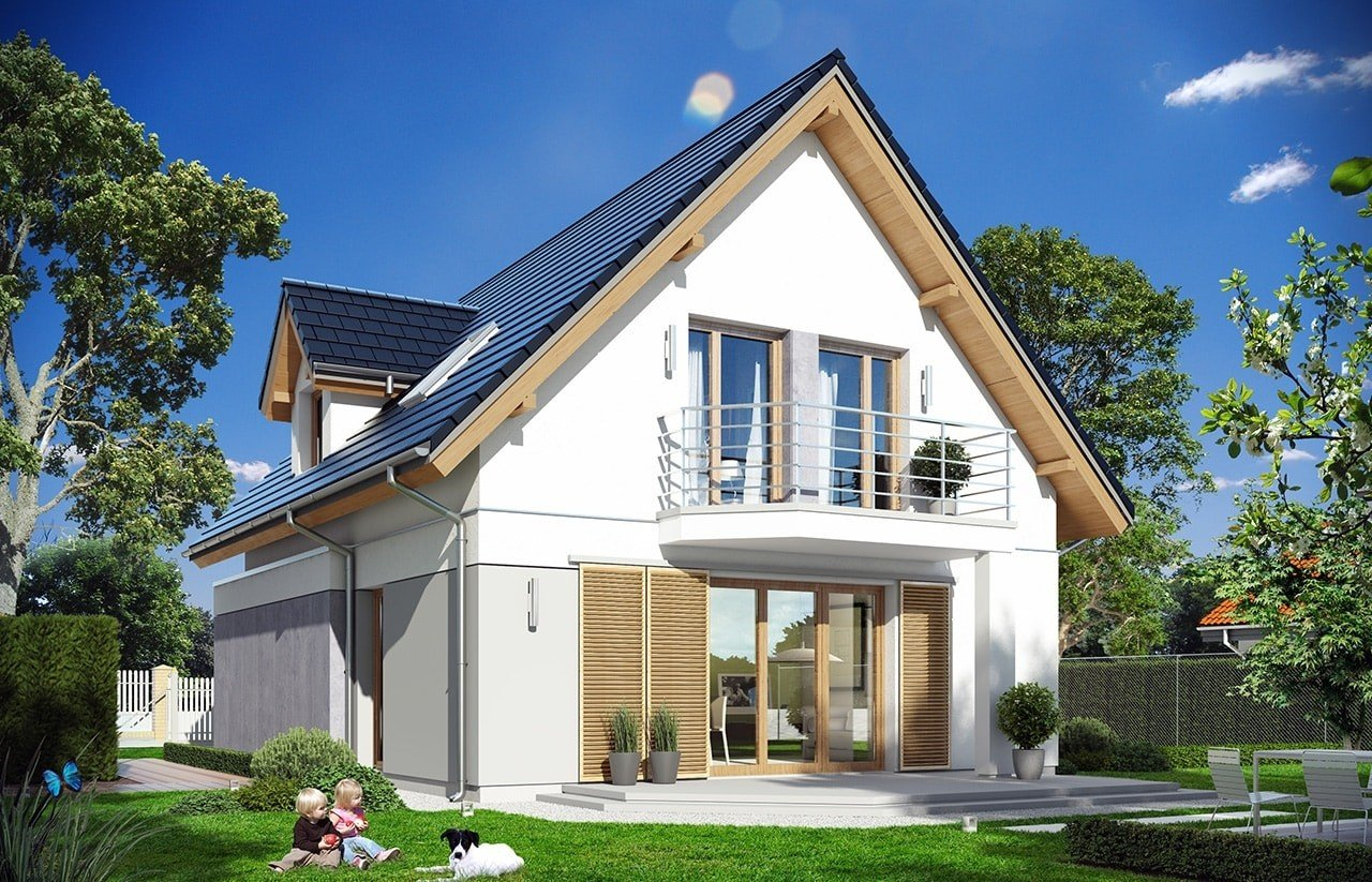 Projekt domu Na swoim - wizualizacja tylna