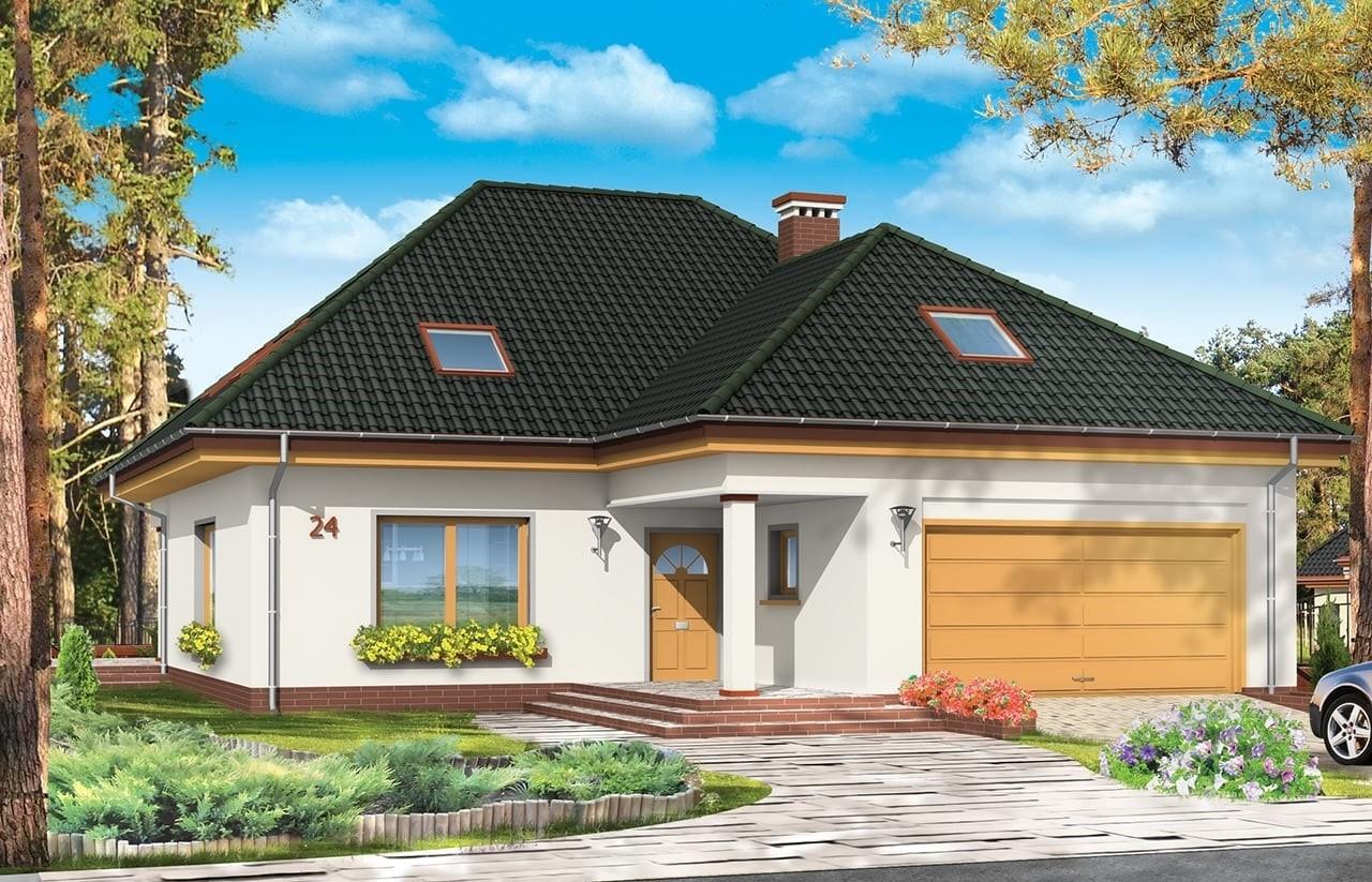 Projekt domu Natalia 2 - wizualizacja frontowa