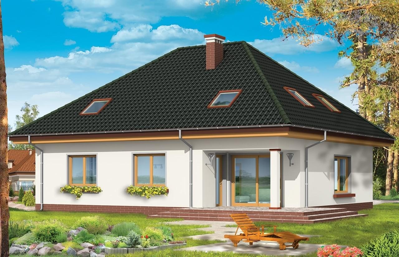 Projekt domu Natalia 2 - wizualizacja tylna