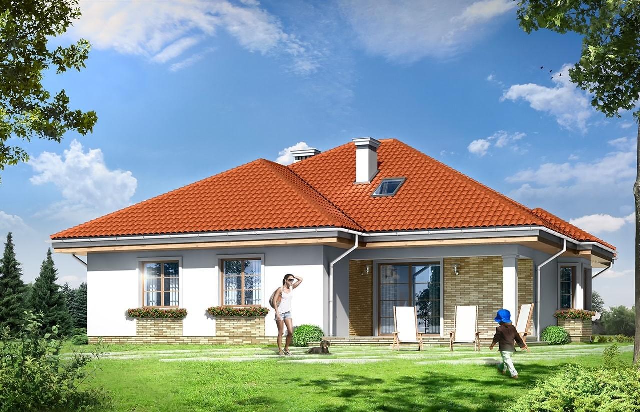 Projekt domu Natalia 3 - wizualizacja tylna