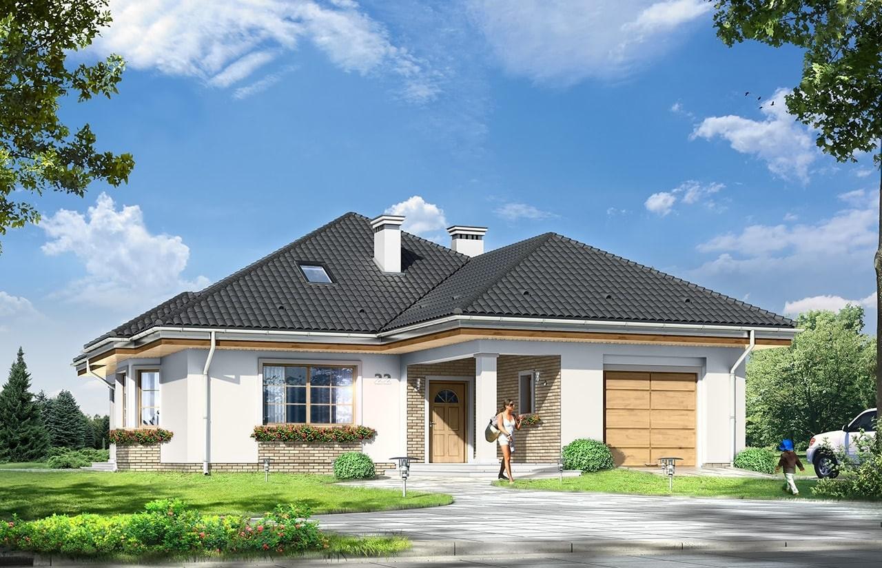 Projekt domu Natalia 4 - wizualizacja frontowa