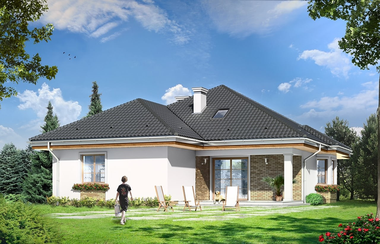 Projekt domu Natalia 4 - wizualizacja tylna