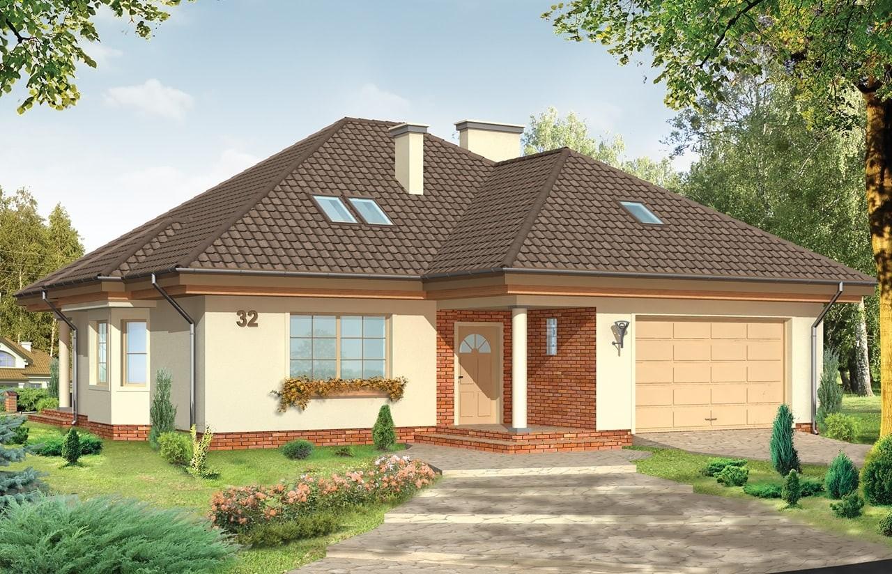 Projekt domu Natalia - wizualizacja frontowa