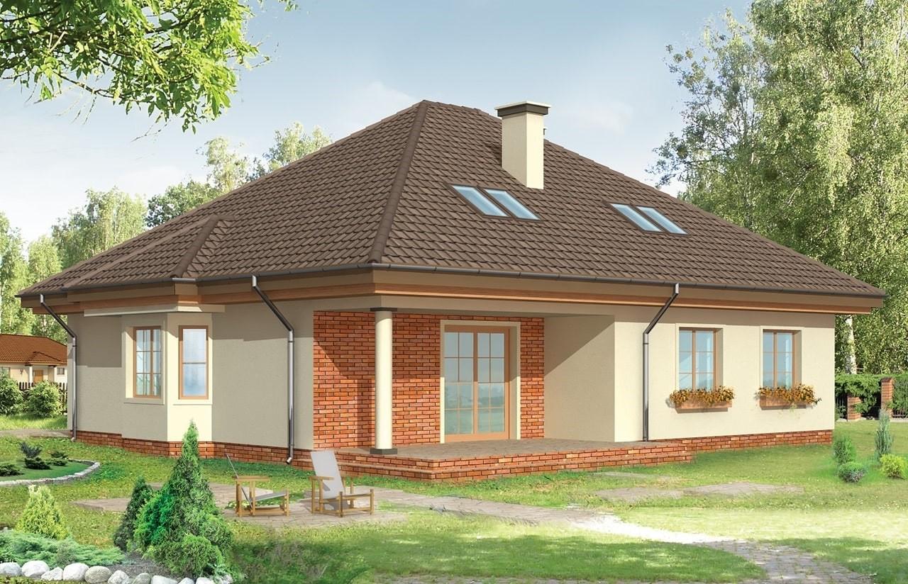Projekt domu Natalia - wizualizacja tylna odbicie lustrzane