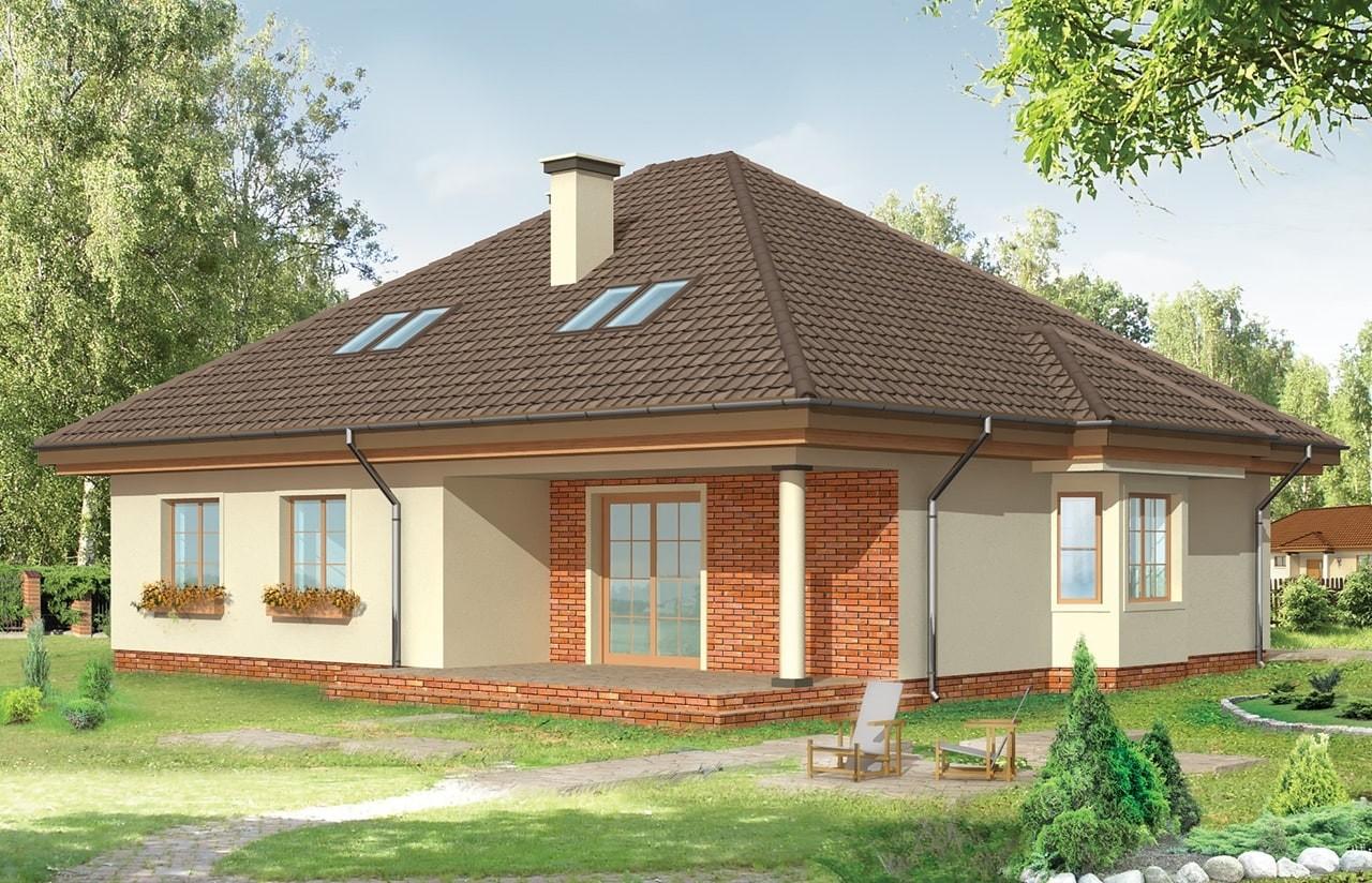 Projekt domu Natalia - wizualizacja tylna