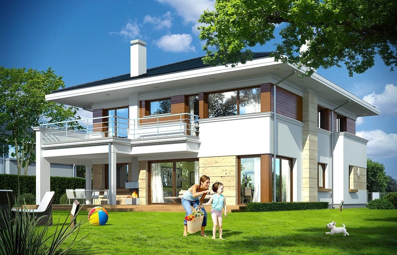 Projekt domu Oceanic - wizualizacja tylna