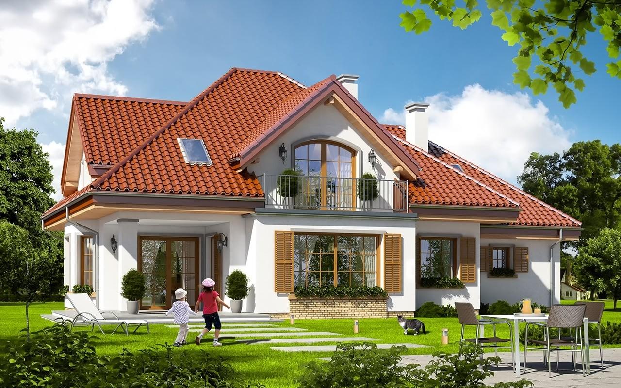 Projekt domu Ofelia 2 - wizualizacja tylna