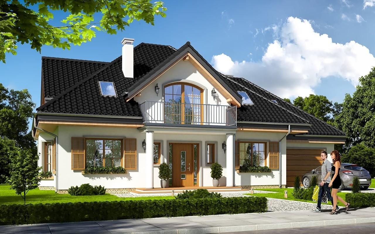 Projekt domu Ofelia 3 - wizualizacja frontowa