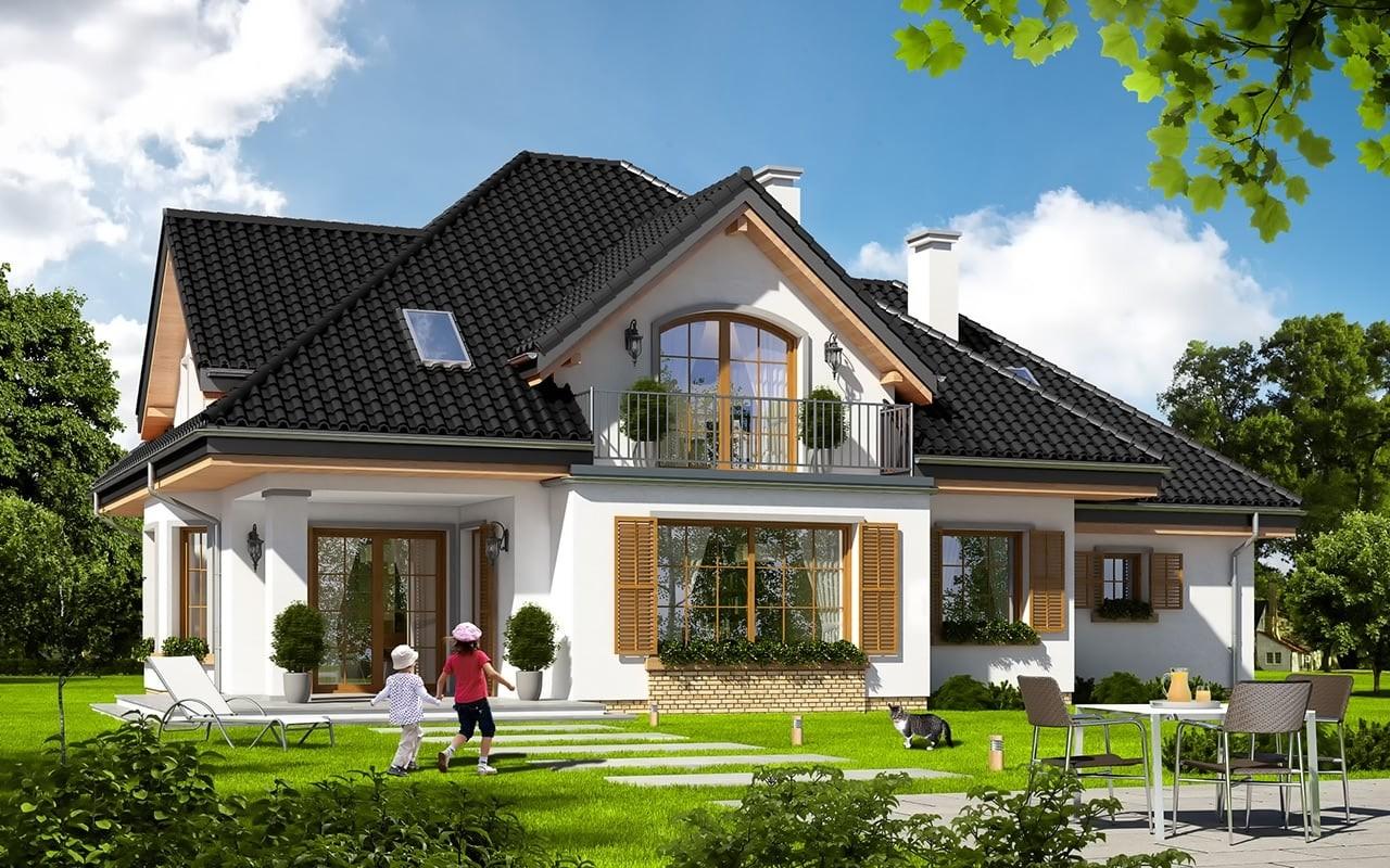 Projekt domu Ofelia 3 - wizualizacja tylna