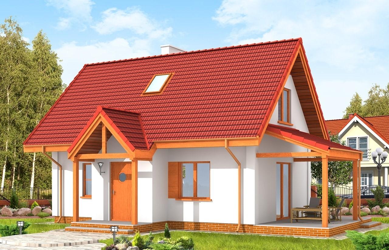Projekt domu Okruszek - wizualizacja frontowa
