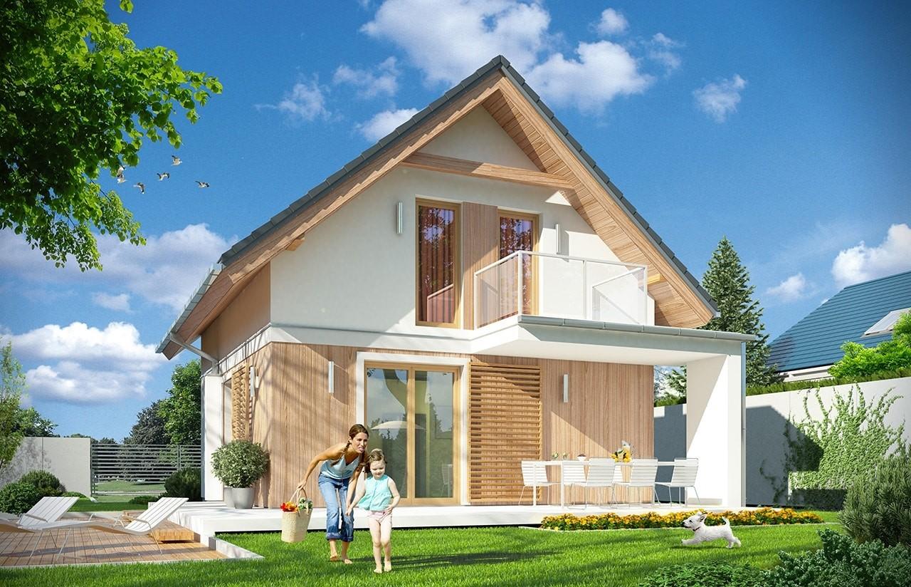 Projekt domu Oleńka - wizualizacja tylna